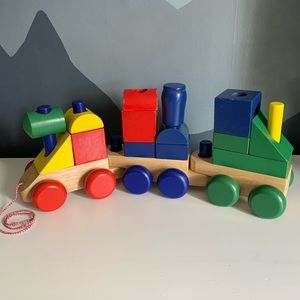 Melissa & Doug Wooden Jumbo Stacking Train Set